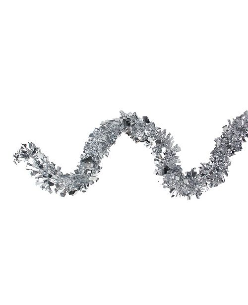 Northlight Shiny Holographic Silver-Tone Boa Christmas Tinsel Garland - Unlit