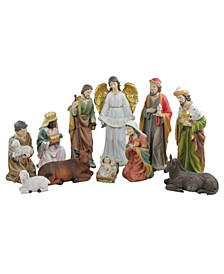 11-Pc. Traditional Religious Christmas Nativity Set with Removable Baby Jesus 19.5""