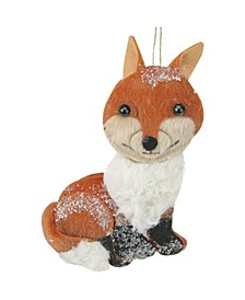 Smiling Face Stuffed Fox Christmas ornament