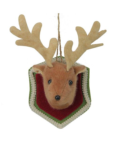 Northlight Stuffed Deer Head Plaque Christmas ornament
