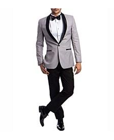 Men's Slim Fit Solid Satin Shawl Collar Tuxedo