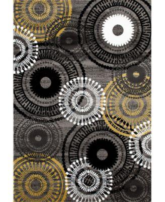 "Home Montane Mon119 Gray/Yellow 3'3"" x 5' Area Rug"