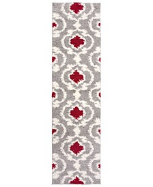 "Home Bahia Shag Bas2525 Red 2' x 7'2"" Runner Rug"