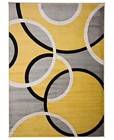 "Home Alba Alb368 Yellow 7'10"" x 10'2"" Area Rug"