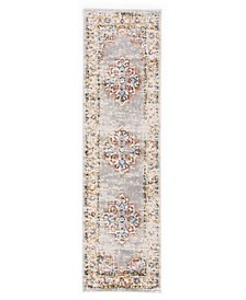 Home Lyon Lyn832 Gray 2' x 7' Runner Rug
