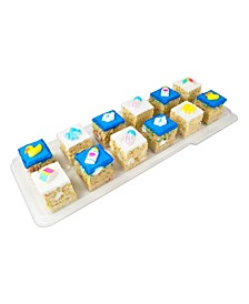 Selection of our Hand Made Rice Krispie Treats Designed To Celebrate Your Baby Boy