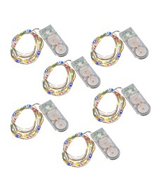 Lumabase Battery Operated Fairy String Lights, Set of 6