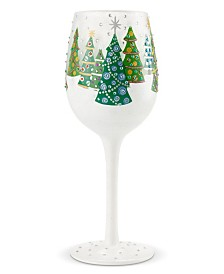 Enesco Lolita Wine Glass Christmas Trees