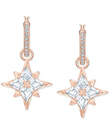 Rose Gold-Tone Crystal Star Convertible Mini Hoop Earrings