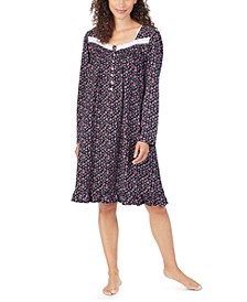Women's Cotton Lace-Trim Nightgown