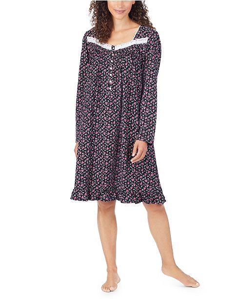 Eileen West Women's Cotton Lace-Trim Nightgown
