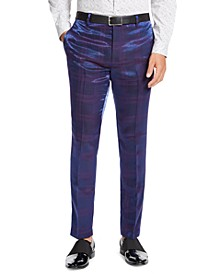 INC Men's Slim-Fit Iridescent Plaid Pants, Created For Macy's