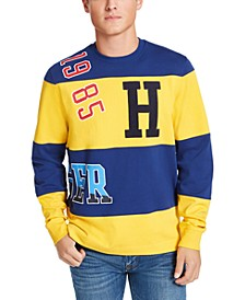 Men's Patches Striped Sweatshirt