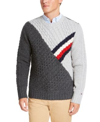 Tommy Hilfiger Men Classic Fit Crew Neck Wool Long Sleeve Sweater $0 Free Ship
