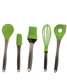 Geminis Silicone 5-Pc. Tool Set, Green