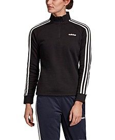 Women's Essentials 3-Stripe Quarter-Zip Track Top