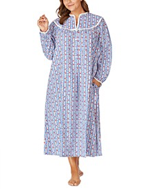 Plus Size Cotton Flannel Nightgown
