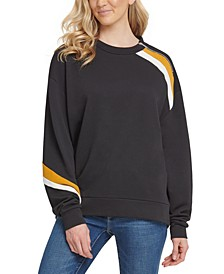 Zip-Shoulder Sweatshirt