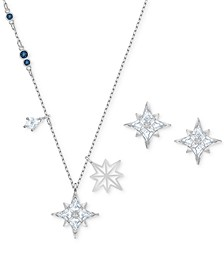 2-Pc. Set Crystal Pendant Necklace & Matching Stud Earrings
