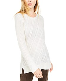 Cable-Knit Crewneck Sweater