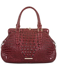 Layla Melbourne Embossed Leather Satchel