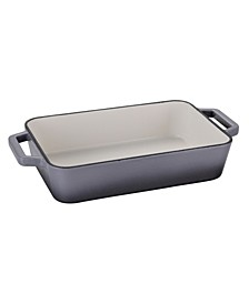 "30"" x 21"" Rectangular Grill Pan Full Painted Cream Enamelled"
