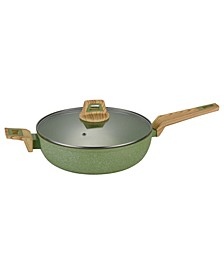 Induction Friendly Round Saute Pan with Glass Lid 11""