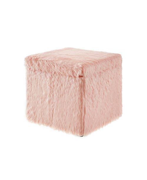 Strange Lilly Faux Fur Storage Cube Ottoman Uwap Interior Chair Design Uwaporg
