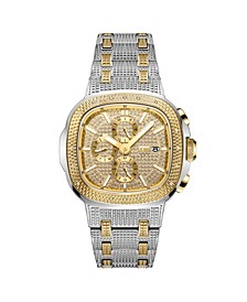 Men's Diamond (1/5 ct. t.w.) Watch in 18k Gold-Plated Two-tone Stainless-steel Watch 48mm
