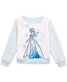 Little Girls Plush Frozen Elsa-Print Top