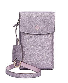 Glitter North South Flap Phone Crossbody