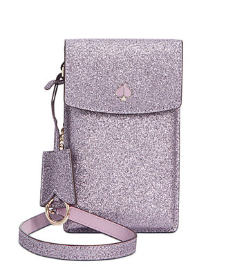 Glitter North South Flap Phone Crossbody by General