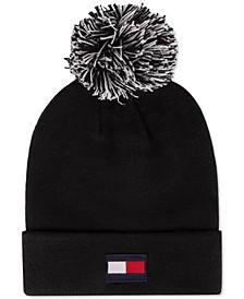 Flag Patch Beanie with Two-Tone Pom