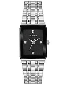 Bulova Women's Futuro Diamond Accent Stainless Steel Bracelet Watch 21x32mm