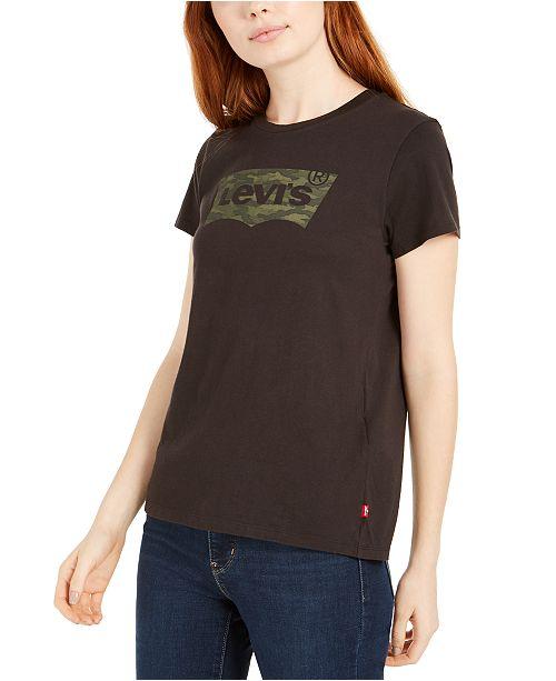 Levi's Women's Perfect Camo Batwing-Logo T-Shirt