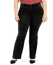 Plus Size Power Sculpt Bootcut Jeans, Created for Macy's