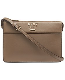 Ava Leather Top-Zip Crossbody, Created for Macy's