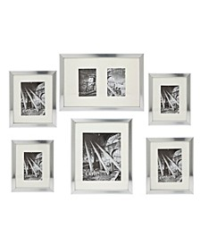 6 Pc Brushed Silver Wall Set