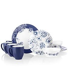 Corelle Boutique Indigo Blooms 16 pc Dinnerware Set