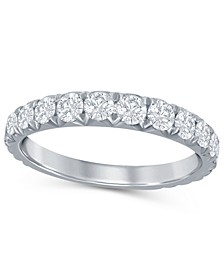 Diamond French Pave (1 ct. t.w.)  Band in 14K White Gold
