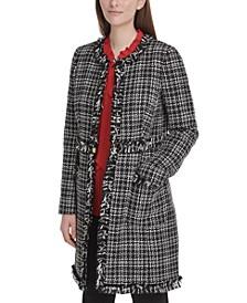 Tweed Plaid Topper Jacket