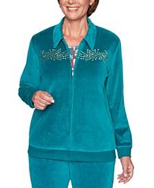 Bright Idea Embellished Velour Jacket