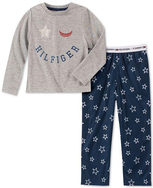 Tommy Hilfiger Toddler, Little & Big Girls 2-Pc. Star-Print Pajama Set