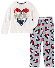 Toddler, Little & Big Girls 2-Pc. Heart Pajama Set