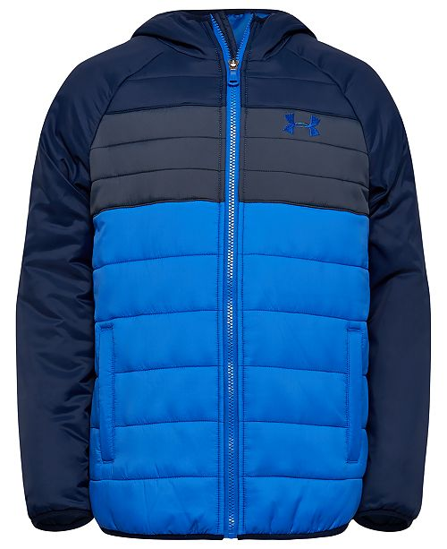 Under Armour Little Boys UA Pronto Colorblocked Hooded Puffer Jacket