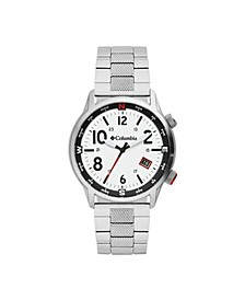 Men's Outbacker Silver-Tone Stainless Steel Bracelet Watch 42mm