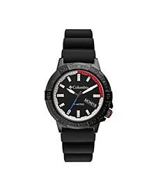 Men's Peak Patrol Black Silicone Strap Watch 42mm