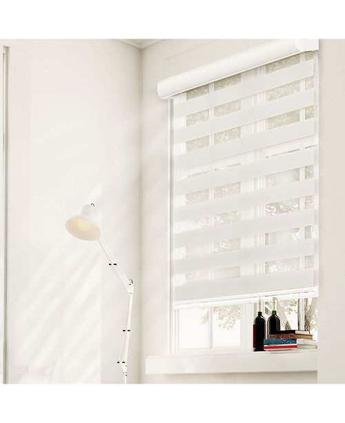 "Chicology Cordless Zebra Shades, Dual Layer Combi Window Blind, 58"" W x 72"" H"