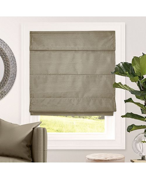 "Chicology Cordless Roman Shades, Blackout Lining Cascade Window Blind, 36"" W x 64"" H"