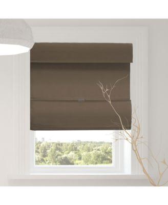 "Cordless Magnetic Roman Shades, Room Darkening Fabric Window Blind, 33"" W x 64"" H"